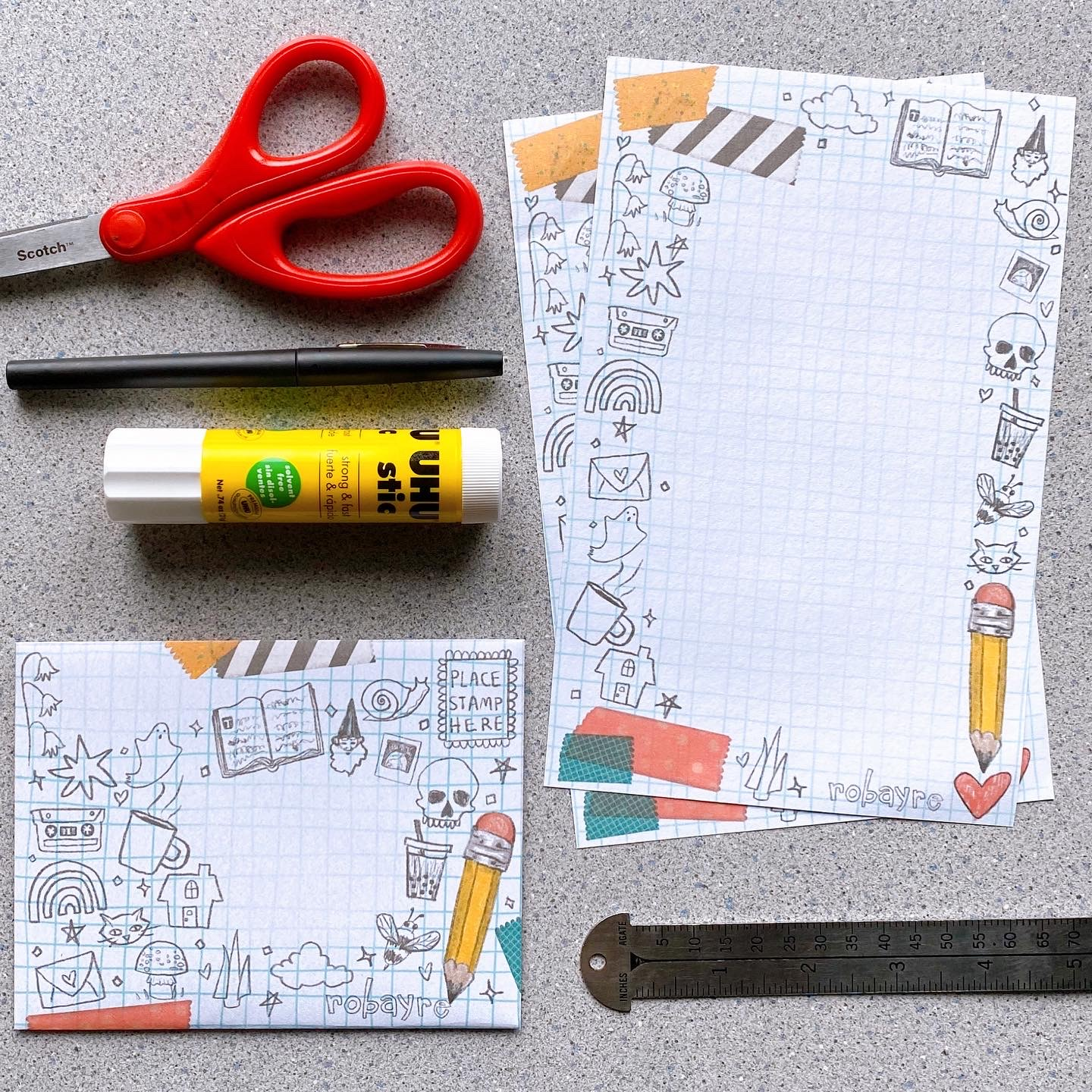 Newsletter and Free Printable Stationery Set