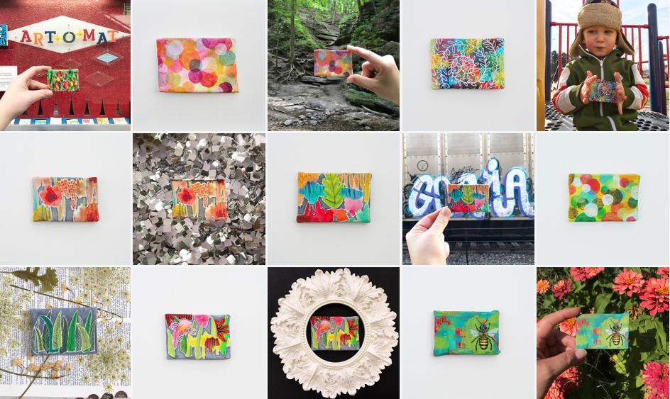Art-o-mat Series III, paintings 1-10