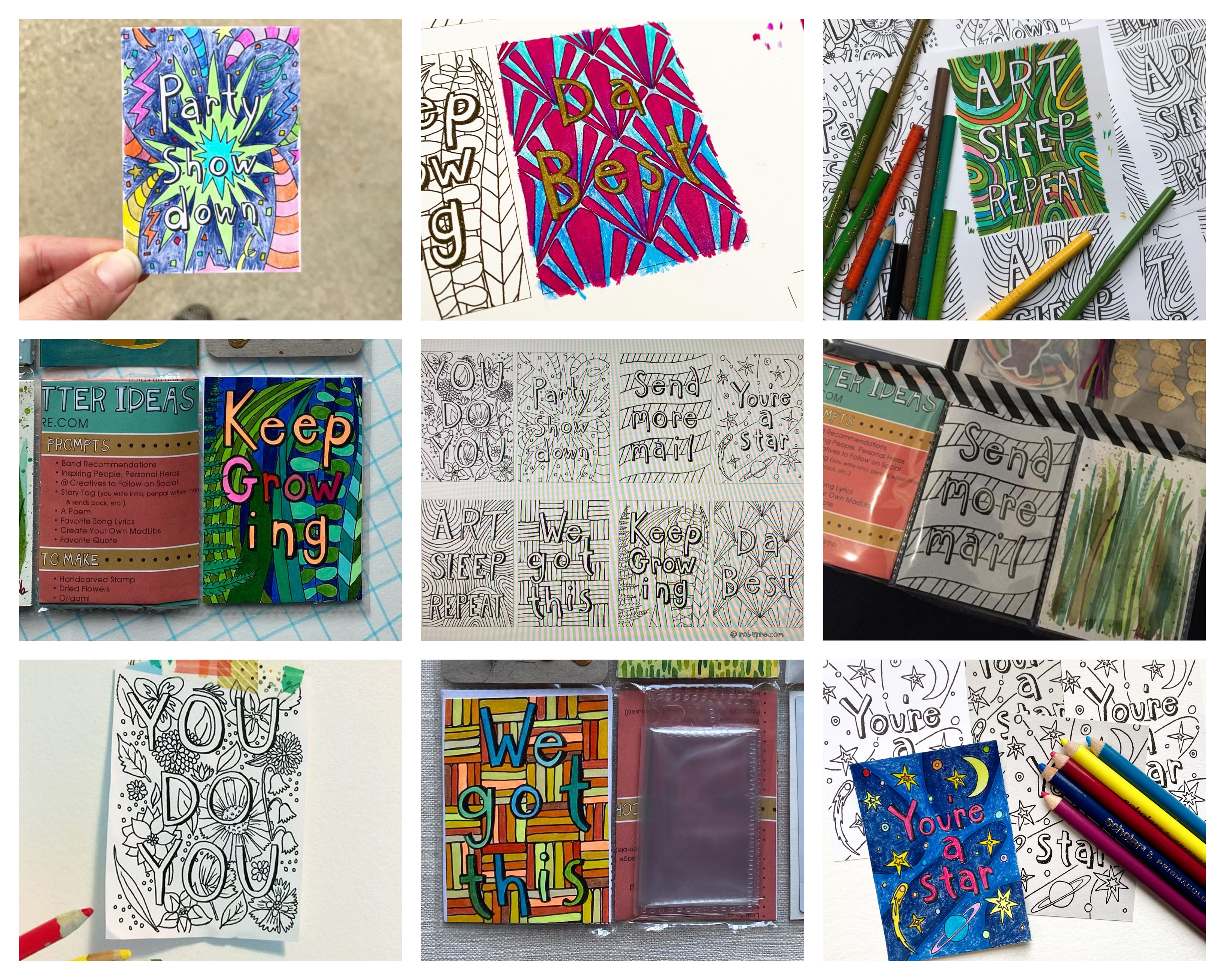 Coloring Book Cards and a Giveaway – CLOSED