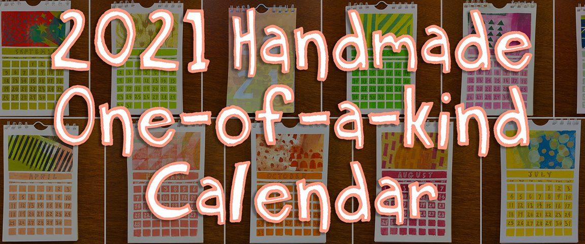 2021 Handmade OAK Wall Calendar